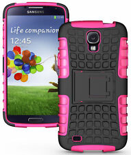 New listing Pink Grenade Rugged Skin Hard Case Cover Stand For Samsung Galaxy S4 Active i537