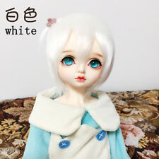 "5-6""14cm white Medium Fur Wig For 1/8 BJD AE PukiFee lati Antiskid bjd doll wig"