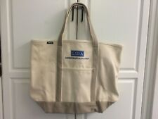 *New* Lands' End Large Canvas Tote: Natural/ Khaki/ Pebble