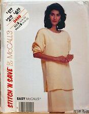 McCalls Sewing Pattern Skirt & Top Ladies 16-20 3459 Vintage Easy UNCUT