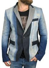 Diesel Oro Negro jeans-sakko jupippi en 50 / M ( slim fit ) Pesado Distressed