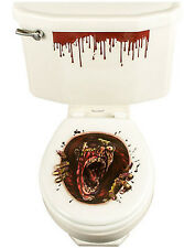 TOILET BOWL SEAT DECORATION Halloween GHOUL cling bathroom lid decal sticker