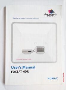 Humax Manual Book for FOXSAT-HDR Satellite HD Digital Television Recorder