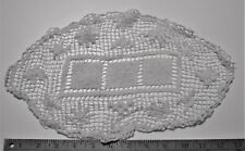 """A touch off White Doily about 14"""" or 36cm by 8.5"""" or 22cm See 7 Pictures"""