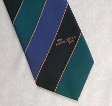 THE KILKENNY GOLF CLUB TIE VINTAGE RETRO 1990s GOLFING GREEN NAVY BLACK STRIPED