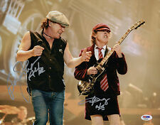 ANGUS YOUNG & BRIAN JOHNSON AC/DC SIGNED 11X14 PHOTO PSA LOA AA09287