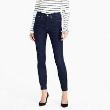 "$125 J Crew 9"" High Rise Toothpick Stretch Skinny Ankle Jeans Blue Sz 30 W30 L28"