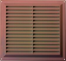 """Brown Plastic Louvre Air Vent Grille Integral Cover Three Sizes 3"""" 6"""" 9"""""""