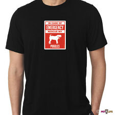 In Case of Emergency Rescue My Puggles Tee Shirt #2 dog safety