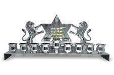 Brand New MENORAH ........... Nickel plated jewish chanukah silver colour menora