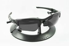 OAKLEY FLAK JACKET XLJ BLACK FRAME / REVANT STEALTH POLARIZED CUSTOM LENSES
