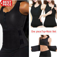 Women Waist Trainer Vest Workout Gym Slimming Adjustable Sweat Belt Body Shaper