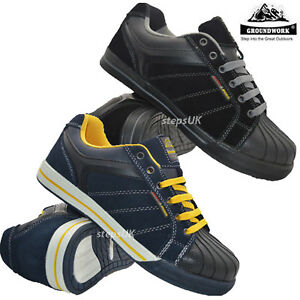 Mens Groundwork Leather Steel Toe Cap Work Boots Safety Trainers Hiking Shoes Sz