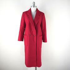 Vintage Red Wool melton Coat Women's S M Boho Oversized lagenook