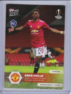 Topps Now Europa League Amad Diallo Manchester United Rookie Card