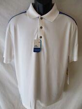 Grand Slam SunFlow Short Sleeve Polyester XL Bright White GOLF Polo SR$50 NEW