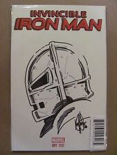 Invincible Iron Man #1 Marvel Remarked By Ken Haeser Dynamic Forces COA 2016
