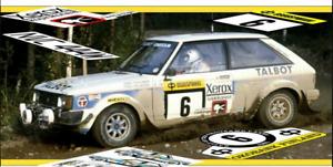 RALLY TRANSKIT 1/18 TALBOT SUNBEAM LOTUS HENRI TOIVONEN 1000 LAKES 1981 WRC OTTO