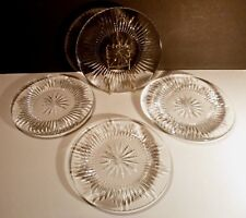 "*VINTAGE* Waterford Crystal EILEEN (1968-) 4 Luncheon Plates 8"" Made in IRELAND"