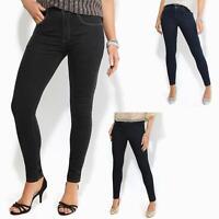 Jean Femme Slim Pantalon Cigarette Taille Moyenne Délavé Basique Casual Mode