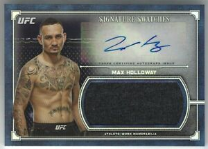 MAX HOLLOWAY #02/99 2019 Topps UFC Museum AUTO RELIC