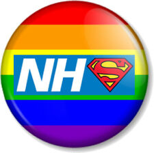 NHS Super Hero Rainbow Flag Pin Button Badge National Health Service 3 sizes