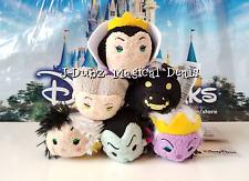 NWT Disney Parks Villains Tsum Tsum Set of 6 Maleficent, Cruella De Vil Ursula