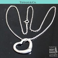 ORIG Tiffany & Co. Peretti Open Heart Collana Cuore M. - rimorchio MEDIUM 925 ARGENTO