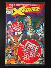 MARVEL COMICS X-Force # 1 Polybag Sealed - Plus Deadpool Trading Card! NM 9.2