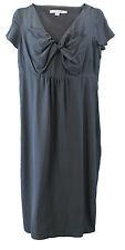 BODEN Women's Grey Cap Sleeve Empire Waist  Dress w/ Bow Detail US Size 2 R NEW