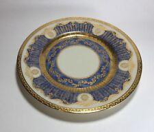 """Black Knight Blue Antoinette Plate s 9 1/4"""" Hohenberg Bavaria"""