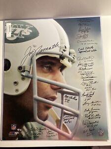 "1969 New York Jets Autographed 20"" x 24"" Super Bowl III Joe Namath 24 Signatures"