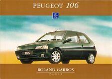 Peugeot 106 Roland Garros 1.4 3-dr Limited Edition 1995 UK Market Sales Brochure