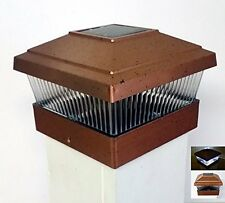 6 PACK of Solar Garden Deck Fence Post Cap Mount 5x5 Light - Copper Color,NEW