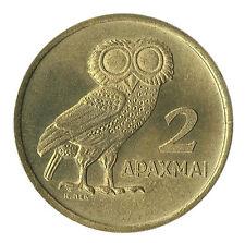 Greece 2 Drachmai 1973 UNC Owl