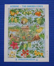 Micronesia (#103) 1989 Kosra - The Garden State MNH sheet