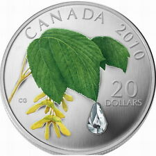 Canada 2010 Maple Leaf Crystal Raindrop 20 Dollars 1oz Silver Coin,Proof