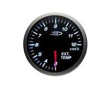 52MM Affumicato temperatura dei gas di scarico TEMP ILLUMINATO BLU / BIANCO PRO Gauge KIT z0970