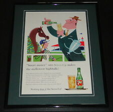 1958 Seven Up 7 Up Highballs 11x14 Framed ORIGINAL Vintage Advertisement