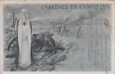 A203) WW1 CROCE ROSSA, OSPEDALE DA CAMPO 213. VIAGGIATA.