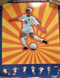 Kristine Lilly USWNT 1997 Soccer Smoke Defenders Poster 22X28 EX $0 S&H