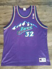 KARL MALONE CHAMPION JERSEY UTAH JAZZ BIG MOUNTAIN NBA BASKETBALL Mens 48 Vntg.