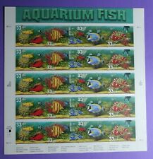 3317 - 3320  US... Aquarium Fish...  Never Hinged Sheet  issued year 1999
