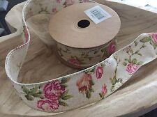 NASTRO Di Iuta Liscio Bordo Trim Shabby Chic Vintage Rosa Craft Cucito Da Matrimonio 1mtr