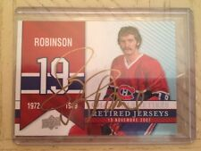 2008-09 UD Montreal Canadiens Centennial #284 Gold ink AUTO Larry Robinson