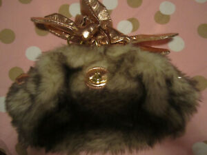 VIVIENNE WESTWOOD,  FAUX FUR BAG  ..  USED CONDITION BUT ULTRA COOL !!!!!!