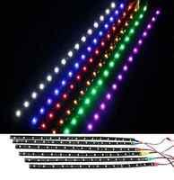 "1Pair 12 LEDs 30cm/11.8"" 5050 SMD LED Strip Light Waterproof 12V Car Decor"
