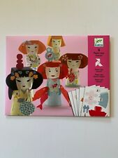New Djeco Paper Toys Kokeshis Paper Dolls Japanese Decorations Party