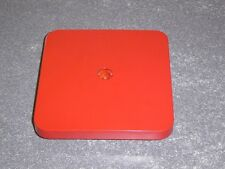 "Refurbished Red Candy Machine Plastic Lid. 6 1/4"" Inner Diameter Square * Nice *"