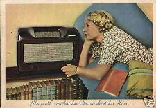 5649/ Werbekarte, Blaupunkt verwöhnt das Ohr, verschönt das Heim, 1951